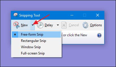 cách chụp màn hình máy tính dell win 10 bàng Snipping Tool