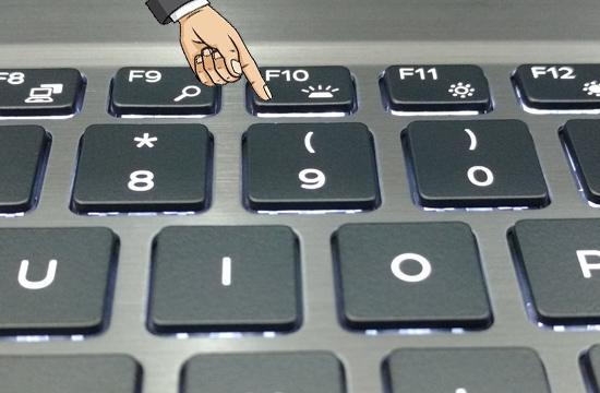 Cách bật đèn bàn phím Laptop Dell