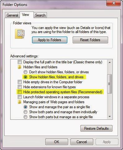 Cách mở file ẩn trong USB